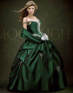 Darkish Green quinceanera dresses 2011