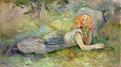 Bergère couchée --Berthe Morisot