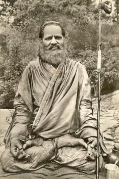 1931: Swami Brahmananda Saraswati (vintage yoga photo) .... #vintageyoga #yogahistory #yoga #om #namaste #1930s #vintagephoto