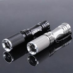 CREE XPE-Q5 600 Lumen 7W Zoomable LED Flashlight 1x14500