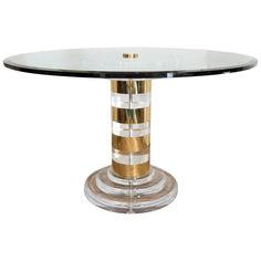 Family room table option 1, Lucite and brass with glass top $6,200