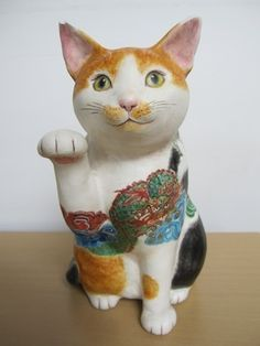 Japanese Cat, Turning Japanese, Maneki Neko, China, Pet Portraits, Cat Art, Art Education, Architecture Art, Animals And Pets