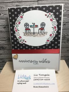 Cafe Bistro, Wedding Anniversary Cards, Stamp Sets, Love Cards, Handmade Wedding, Stampin Up Cards, Handmade Cards, Birthday Cards, Card Ideas