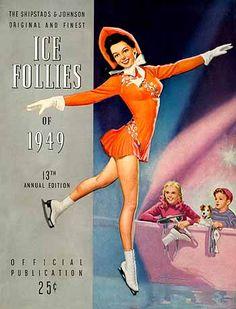 Vintage Ice Follies Program,1949 illustrated by K. O. Munson  Figure Skating Pin-up