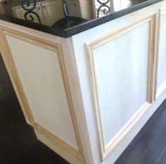 our fifth house: Kitchen Progress and Opinions Please. Adding molding to kitchen cabinets to update kitchen on a budget.