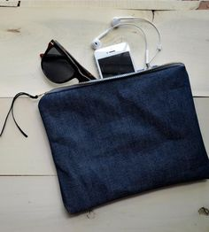 Japanese Raw Indigo Selvedge Denim Pouch | Women's BAGS & ACCESSORIES | Kathryn Kelly Workshop | Scoutmob Shoppe | Product Detail