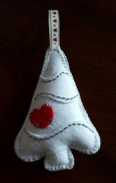 White felt Christmas Tree...