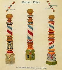 vintage barber striped pole