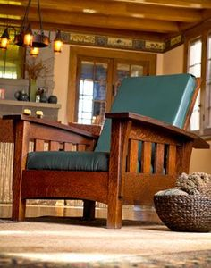 """-Madeira Morris Chair, """"Arts and Crafts"""" movement furniture style Arts And Crafts Interiors, Arts And Crafts Furniture, Arts And Crafts House, Colorful Furniture, William Morris, Furniture Styles, Furniture Design, City Furniture, Furniture Outlet"""