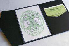 Celtic Wedding Invitation Dublin   Tree of Life  by Tulaloo on Etsy, $10.00
