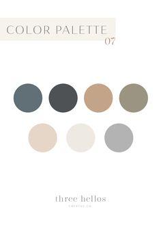 Branding Color Palette, Color Inspiration, Wedding Color Inspiration, Color Theory, Three Hellos Creative Co. Color Palette For Home, Neutral Color Scheme, Neutral Colour Palette, Colour Schemes, Vintage Colour Palette, Interior Design Color Schemes, Modern Color Schemes, Mauve Color, Moodboard Interior Design