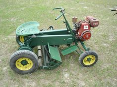 National 1963 antique riding lawn mower