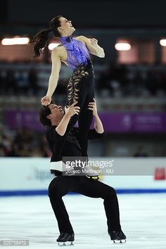 Tessa Virtue and Scott Moir of Canada compete during Senior Ice Dance Short Dance on day two of the ISU Junior and Senior Grand Prix of Figure Skating Final at Palais Omnisports on December 9, 2016...