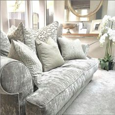 Our slouch bespoke made sofa, made to order 4 to 6 weeks delivery time and made in the uk 🇬🇧 also available in other fabric and sizes. Selling Furniture, Furniture Making, Luxury Furniture, Furniture Design, Sofa Design, Interior Design, Bespoke Sofas, Furniture Boutique, Soft Furnishings