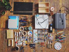 Monica Ramos' materials