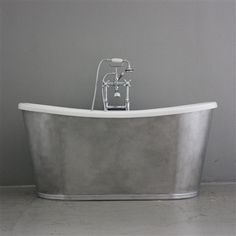 'Santorini' CoreAcryl Acrylic French Bateau Tub, Bath, Bathroom