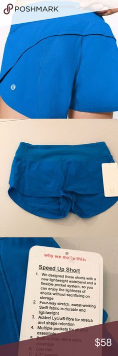 NWT AMLF LULULEMON SPEED UP SHORTS - - Size 4 Brand: Lululemon Athletica speed up shorts         Condition: New with tag || Size 4 || AMLF speed up shorts  blue    🚩NO TRADES  🚩NO LOWBALL OFFERS  🚩NO RUDE COMMENTS  🚩NO MODELING  ☀️Please don't discuss prices in the comment box. Make a reasonable offer and I'll either counter, accept or decline.   I will try to respond to all inquiries in a timely manner. Please check out the rest of my closet, I have various brands. lululemon athletica…