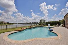 20222 Stanton Lake Drive. Heated pool overlooks large neighborhood lake. Bernstein Realty, Houston Real Estate.