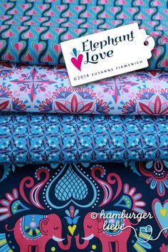 Hamburger Liebe - Elephant Love - blau pink