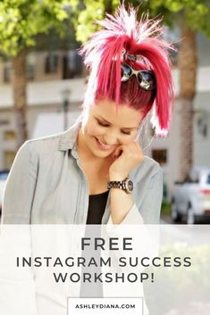 This free Instagram Success workshop is full of ideas, tips, and hacks on how to best post photos and captions, how to gain followers and more. Free Instagram, Instagram Tips, Gain Followers, Social Media Influencer, Social Media Tips, Boss Babe, Captions, Diana, Health And Beauty