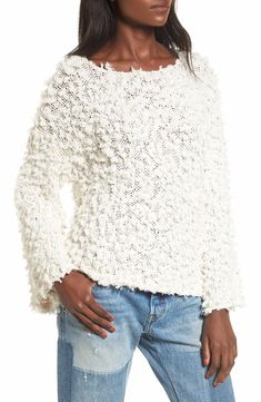 Main Image - Moon River Nubby Boatneck Sweater
