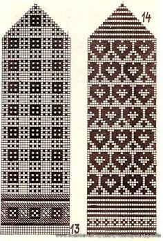 colour work pattern for mittens – Stricken Knitting Charts, Knitting Stitches, Knitting Designs, Knitting Socks, Knitting Patterns Free, Knitted Mittens Pattern, Crochet Mittens, Fair Isle Chart, Fair Isle Knitting