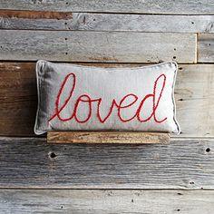 inspirational linen pillows