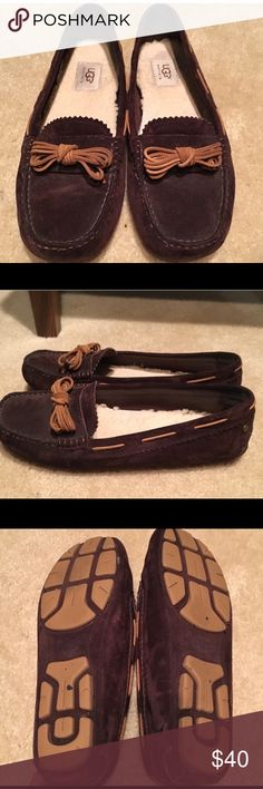 Ugg Meena Dark Brown Loafers Super cute and comfy loafers by Ugg. Great condition-worn a few times. See photos! UGG Shoes Flats & Loafers