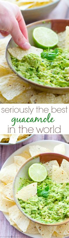 You'll never go back to storebought again after one taste of this flavor-packed homemade guacamole. Whips up in less than 5 minutes and the flavors are outta this world! Sarah | Whole and Heavenly Oven