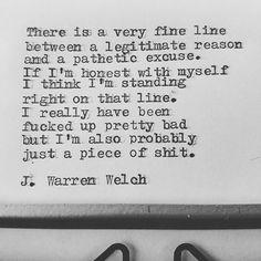 #jwarrenwelch #wordsmith #poet #poem #poetry #writer #shortpoems #wordporn #wordgasm #writersofinstagram #poetsofinstagram #poetryporn #creativewriting #poetrycommunity #prose #spilledink #instapoet #writerscommunity #writingcommunity #wordart #sapiosexual #poetryisnotdead #drunkpoetsociety #writersofig #poetsofig #typewriter #typewriterpoetry