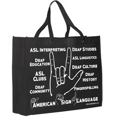 I Love You Tote - All about Deaf World and ASL - free S&H!