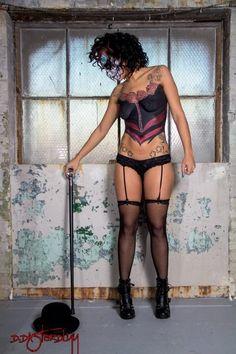 Corset Body Painting by Philadelphia Body Painter Jennifer Montgomery