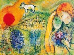 "The Lovers of Vence"" - Marc Chagall 