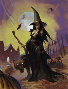 Halloween Horror, Halloween Art, Haunted Halloween, Fantasy Comics, Fantasy Art, Wolf Comics, Figure Sketching, Sword And Sorcery, Halloween Pictures