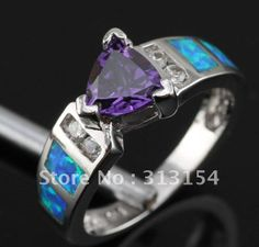 blue fire opal | Aliexpress.com : Buy Fashion Jewelry .925 Opal Ring Blue Fire Opal ...
