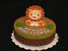 Baby Boy shower cake - Lion Safari Cake.
