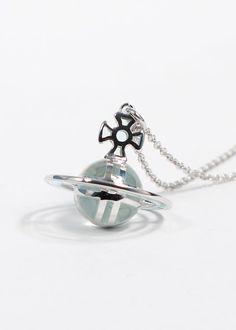 Vivienne Westwood Jewellery Vivienne Westwood Plique A Jour Pendant - Rhodium/Azure