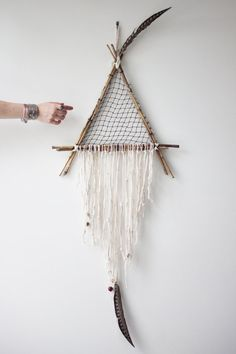 Giant Natural Triangle Dreamcatcher