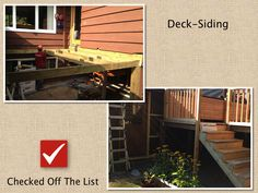 New deck can be an item in To-Do list!