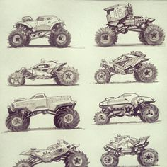 Thumbnail sketches from our book, DRIVE.