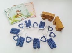 Crochet Garland Baby Boy Pattern with Pants and от AtelierSopra