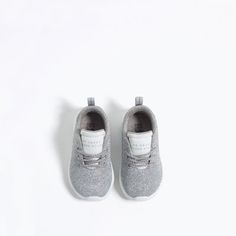 Image 4 of LIGHT SHINY SNEAKERS from Zara