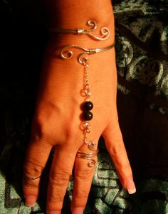 Slave Bracelet Sterling by ManipulationinWire on Etsy,