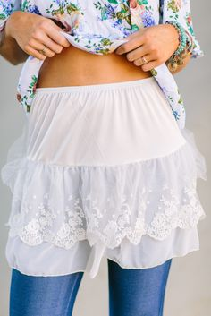 Lace + Tulle Shirt Slip