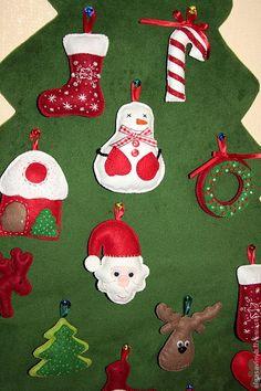 фетровая елочка с фетровыми игрушками на пуговичках: 19 тыс изображений найдено в Яндекс.Картинках