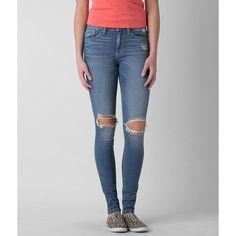 Flying Monkey High Rise Skinny Stretch Jean ($34) ❤ liked on Polyvore featuring jeans and blue