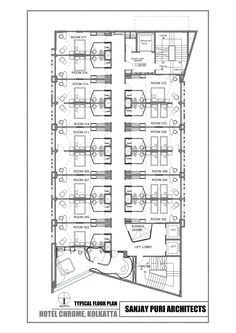 Image 9 of 10 from gallery of Chrome Hotel / Sanjay Puri Architects. Typical floor plan