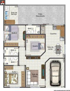 Casa 1 Quartos - 88.48m²