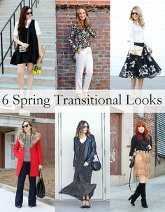 Spring Transitional Looks | Winter to Spring Outfits
