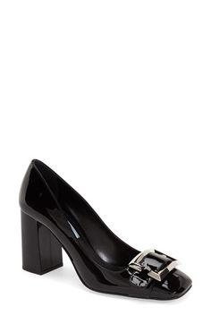 Prada Block Heel Pump (Women) available at #Nordstrom